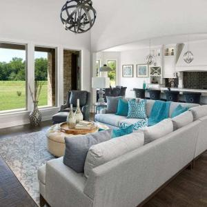 Rustic Modern Living Room by Monica Wilcox